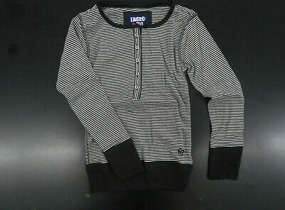 Girls Limited Too $38 Black & White Striped Long Sleeved Top Sizes 7/8 - 14/16