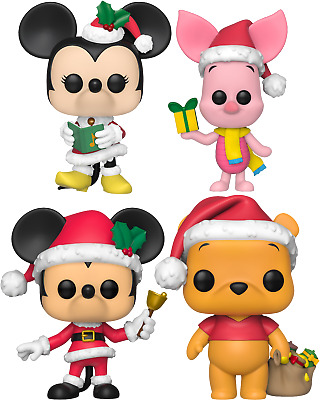 FUNKO POP!Disney Holiday - Mickey Mouse+Minnie+Winnie-the-Pooh+Piglet (SET OF 4)