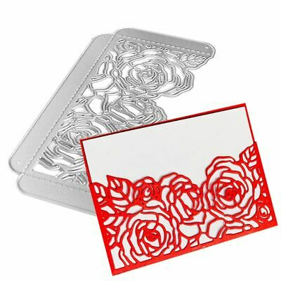Rose Flowers Metal Cutting Dies Stencil Scrapbooking Wedding DIY Card Embossing