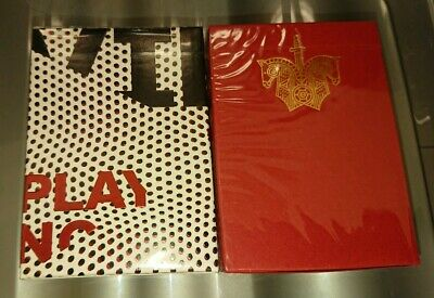 VIEWS & RED KNIGHTS 2x Decks Of Playing Cards Ellusionist Sealed Uspcc
