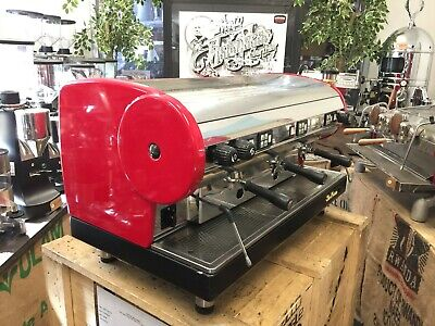 San Marino Lisa 3 Group Red Espresso Coffee Machine Commercial Cafe Restaurant