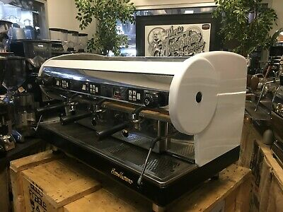 San Marino Lisa 3 Group White Espresso Coffee Machine Commercial Cafe Barista