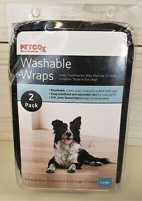 NEW IN PACKAGE Petco Washable Wraps (2 pack / size Large)