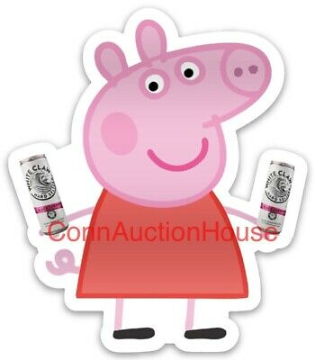 Peppa Pig White Claw Hard Seltzer Sticker Aint No Laws When Youre Drinking Claws