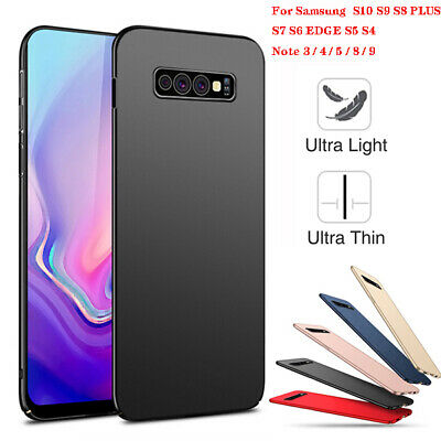 For Samsung Galaxy S10 S9 Plus Ultra Slim Matte Hard Back PC Protect Cover Case
