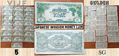 L@@K!!!!! Authentic Japanese Inflation Money Banknotes -  5 GULDEN