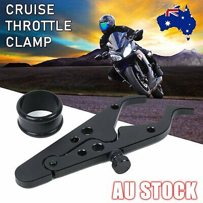 Universal Alloy Motorcycle Cruise Control CNC Throttle Lock Assist Retainer Grip