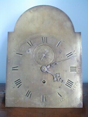 1 Day Sale Giveaway Bargain Unusual Brass Dial Longcase  Movement 14In By 10In