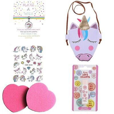 Girls Unicorn Gift Set Beauty Make Up Kit - Children's / Kids Messenger Bag