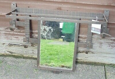 (#204) arts and crafts mirror / coat rack  (Pick up only)
