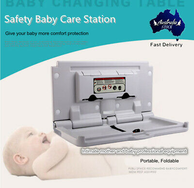 Wall Mounted Baby Change Table Bathroom Infant Room Foldable Care Station