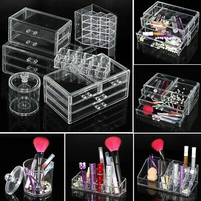 New Acrylic Makeup Cosmetic Case Organizer Holder Drawers Jewelry Storage Box OZ