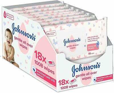 Total 1008 Wip Johnson/'s Baby Extra Sensitive Fragrance Free Wipes Pack of 18