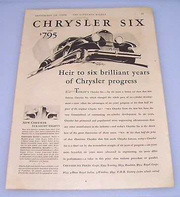 Art 1930 Chrysler Vintage Style Automotive Showroom Poster 24x32