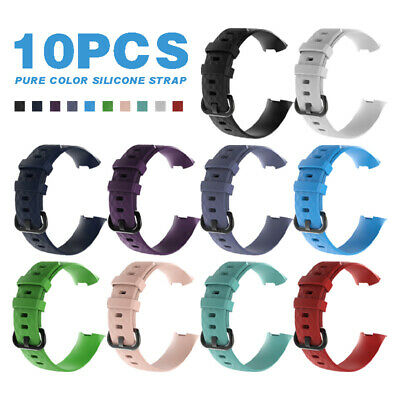 10-PACK For Fitbit Charge 3 Wristband Replacement Silicone Bracelet Strap Band