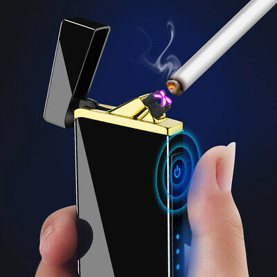 Windproof Electric Cigarette Lighter Double ARCH Touch USB charge Flameless