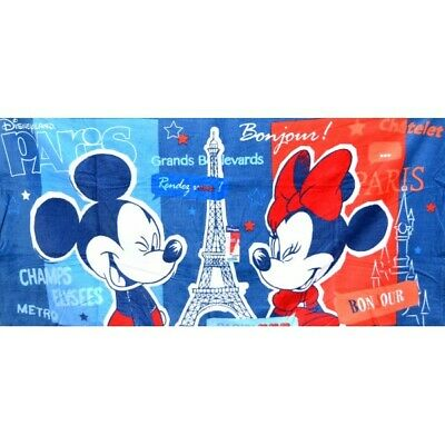 Disneyland Paris Mickey and Minnie in Paris Beach Towel    N:2945