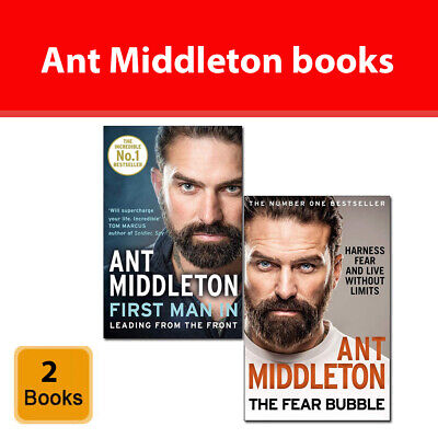 Ant Middleton Collection 2 Books Set Pack First Man In, The Fear Bubble NEW