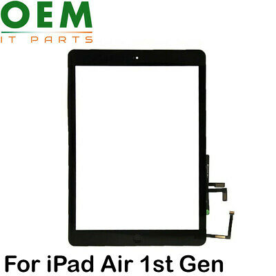 iPad Air 1st Gen / iPad 5 Digitizer Touch Screen Glass Home Button With Adhesive