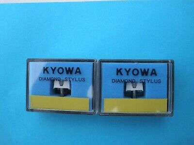 A Pair of KYOWA Replacement Diamond Styli for the Stanton 500 Cartridge