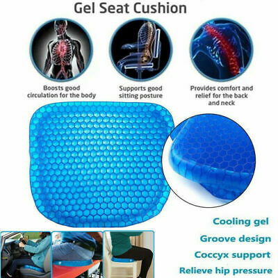 New Gel Flex Seat Cushion Breathable Absorbs Pressure Points Sitting Support UK