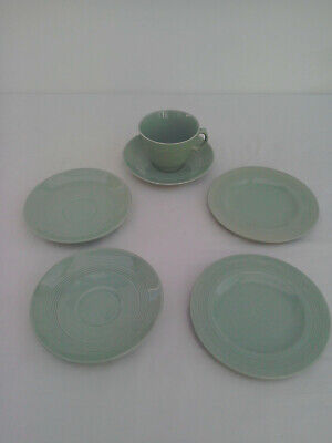 Wood's Ware Beryl 1 Person Trio Tea Set With Spares / Extras - 1 Cup,3 Saucers &