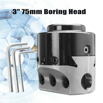 2X(3 inch 75Mm Boring Head Lathe Milling Tool Holder +3 Wrench for 3/4 inchS3Y3)