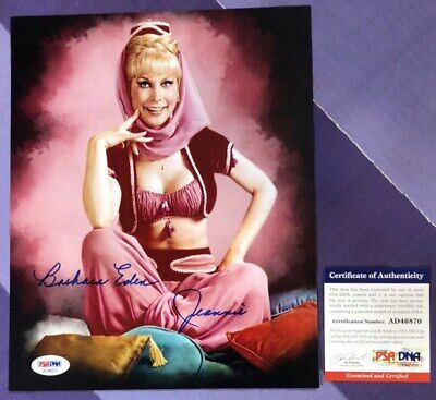 """8x10 """"I Dream of Jeannie"""" Barbara Eden signed & authenticated  glossy! Nice"""