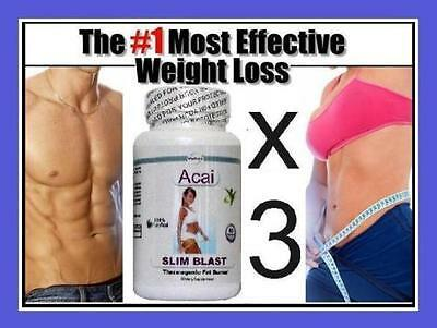 Fat Burner Diet PIlls Slimming Detox Cleanse Weight Loss Slimming Tablets x3