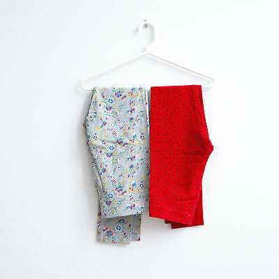 JCrew Crewcut JohnnieB leggings girl red polka dot floral gray