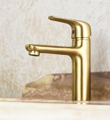 Bathroom Solid Brass Brushed Gold Faucet Basin Faucet Sink Tap Solid Brass Tap
