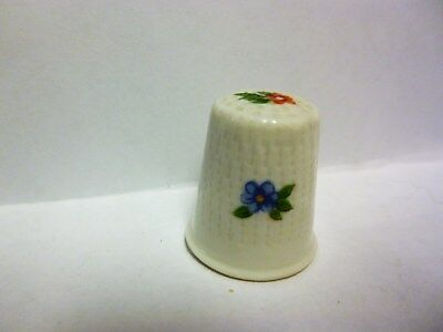 Thimble - Red Hand-Painted Flower by Limoges France w/Fay Name - Porcelain