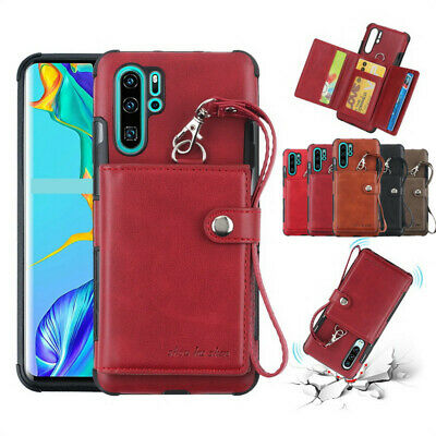 For Samsung Galaxy Note 10 Plus A70 S10 S9 A40 Leather Wallet Back Case Cover