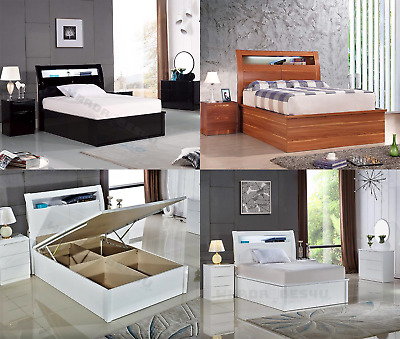 Prime High Gloss Storage Ottoman Led Bed Wooden Single Double King Forskolin Free Trial Chair Design Images Forskolin Free Trialorg
