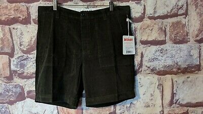 Men's Boast Olive Green Corduroy Patch Pocket Shorts Size 32 Nwt Free Ship