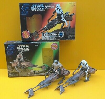 STAR WARS ™ Power of the Force Imperial Speeder Bike Biker Scout + Luke Lot