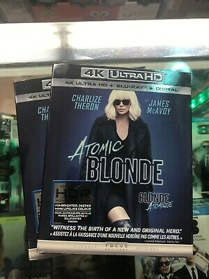 Atomic Blonde 4K ULTRA HD + BLU-RAY+DIGITAL-Brand New & Sealed