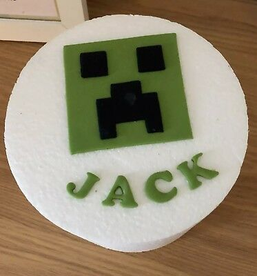 Minecraft Cake Toppers Edible Birthday Personalised Name Icing unofficial