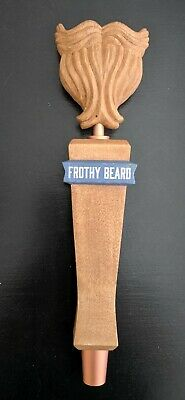"""Frothy Beard Brewing Bar Used 10"""" Bar Tap Handle Pull Man Cave"""