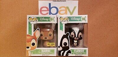 Funko Pop! Disney Hot Topic Exclusive Flocked Bambi & Flower