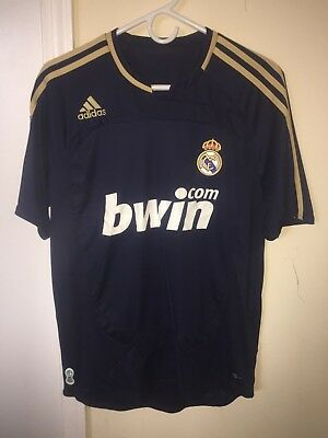 Mens Adidas Real Madrid Soccer Jersey Navy Blue ClimaCool BWIN Sz Small