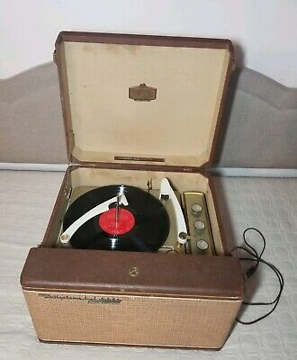 🎶 VTG 50's RCA Victor Orthophonic High Fidelity Record Player Mid Century