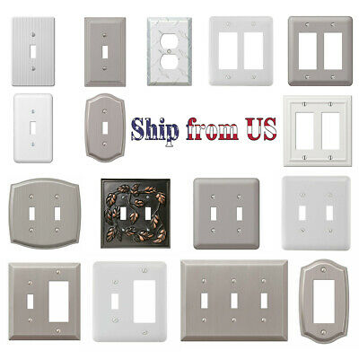 Multi Wall Switch Plate Decorative Outlet Cover GFI Toggle Rocker Duplex Outlet