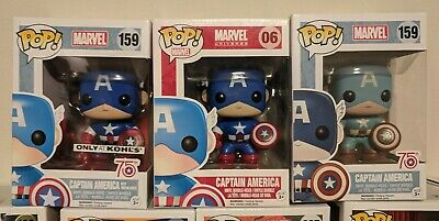 Funko POP! Marvel: Captain America 3POP! Lot (Kohl's / Amazon) #06 #159