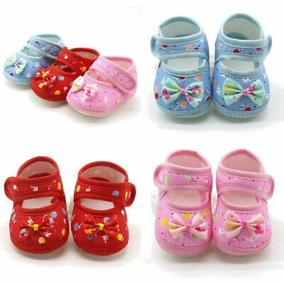 Newborn baby girl caSual Soft SoleS  cotton warm front ShoeS