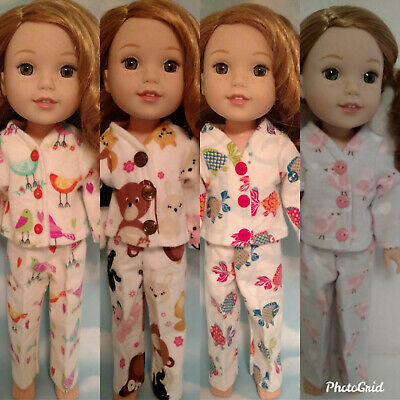 14.5 inch Doll Clothes,Pajamas fits American Girl Wellie Wisher Dolls m256wabcd