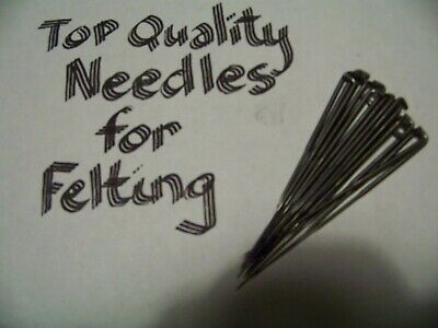 "7ct. FELTING NEEDLES-3 1/2"" Size-Pick from 30,32,36,38 Ga, USA Seller-BEST"