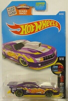 2016 Hot Wheels Super Treasure Hunt 2010 Pro Stock Camaro Free Plastic Case