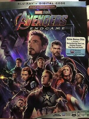 Avengers Endgame Blu-ray (No Digital Code) 2 Disc Plus Lithograph Bonus Marvel
