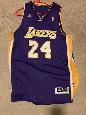 watch 4c9bc 823fa KOBE BRYANT #24 Jersey LOS ANGELES LAKERS size Large ...